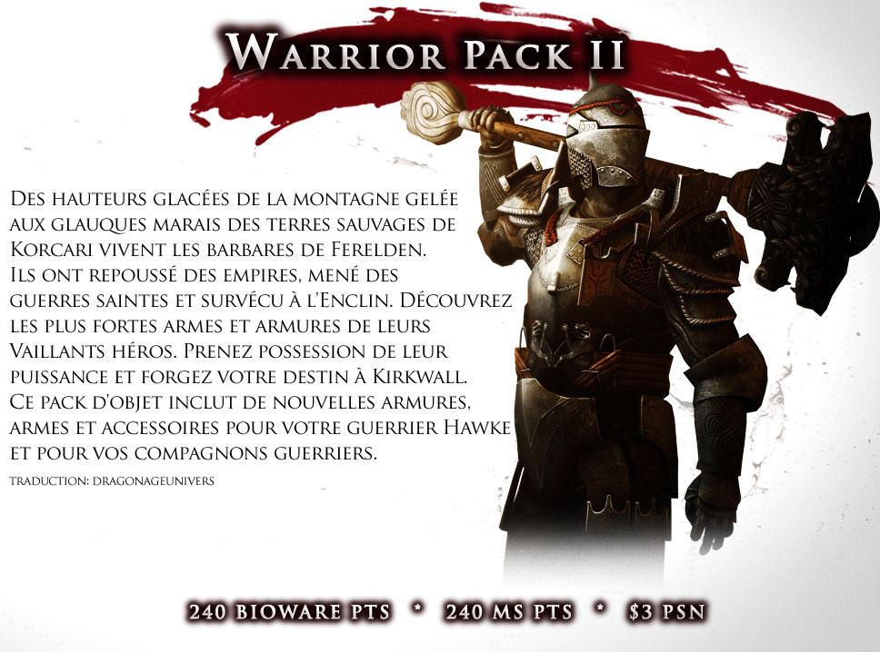 pack guerrier 2