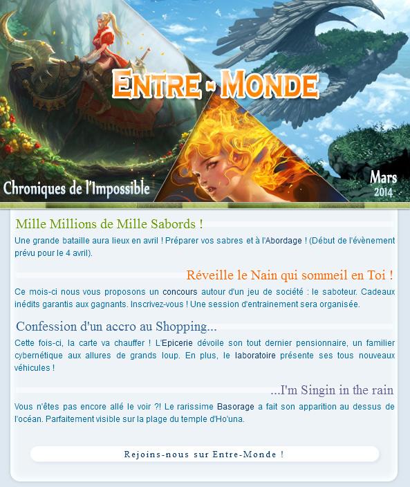 Newsletter de Mars 2014