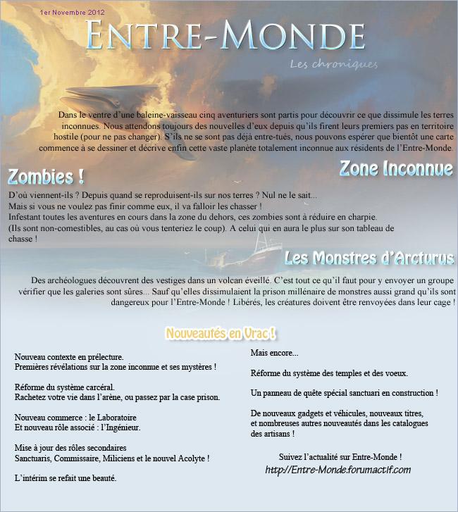 newsletter d'Entre-Monde