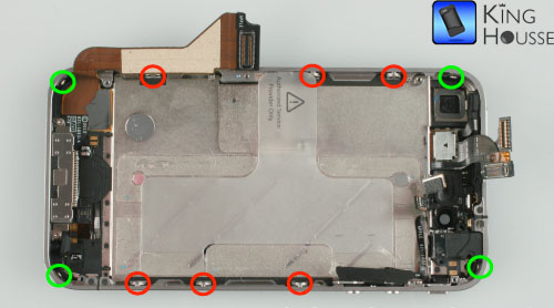 Depose des vis du chassis de l iphone 4