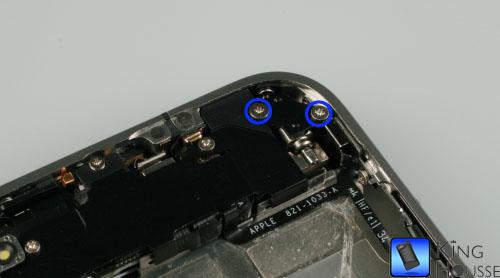 Depose des vis du vibreur de l iphone 4