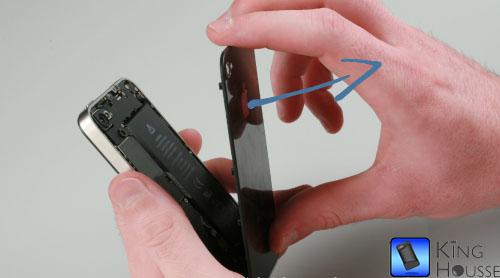 depose de la coque arriere de l'iPhone 4
