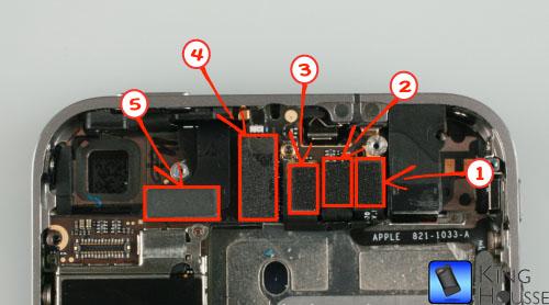 Id des prises des modules iphone 4