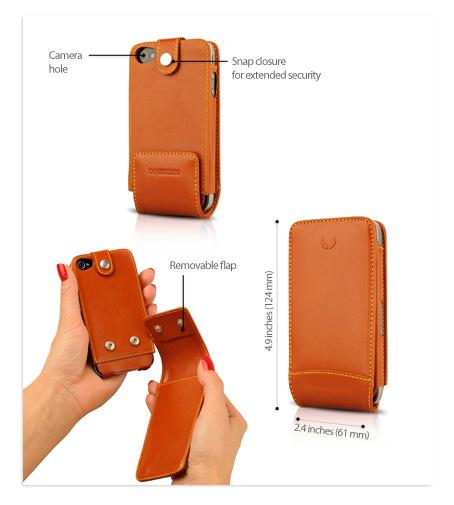 Housse multi flip iphone 4S, formidable etui en cuir pour téléphone portable Apple.