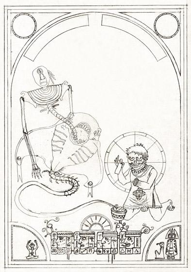 esquisse de l'illustration en duo