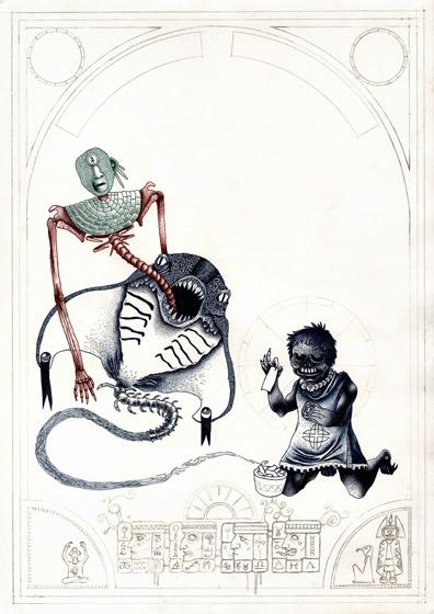 illustration encrage au rotring