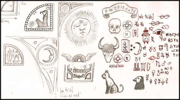 crayonnés de gael chapo pour le dessin collectif