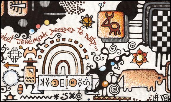 dessin illustration feutre posca papier