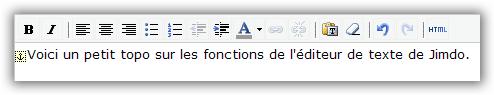 Editeur de texte interactif