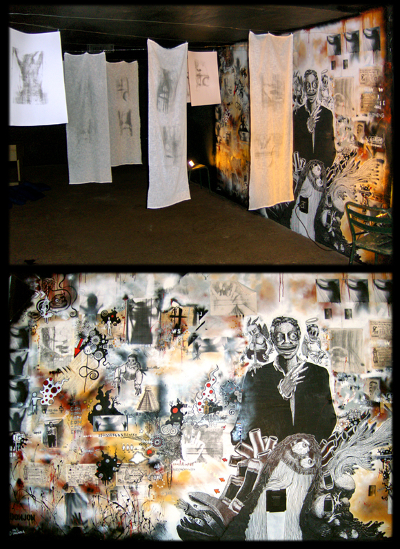 installation et fresque collective