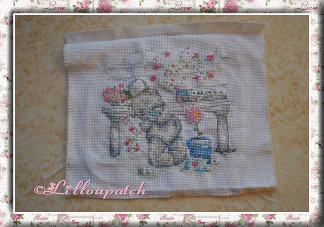Broderie centrale housse de couette / Tatty Teddy