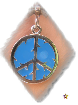 Boucles d'Oreilles Strass Noeud et Peace and love Turquoise