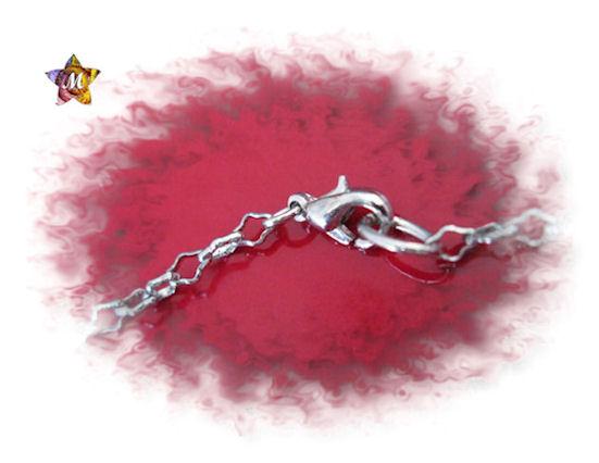 Emme-Créations collier argenté avec un gros dé blanc