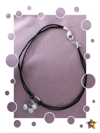 Magnifique Collier aux « perles grises »