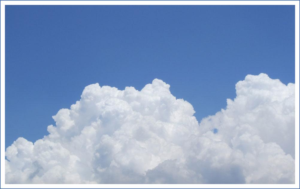 Gros nuages blancs : crème chantilly ?