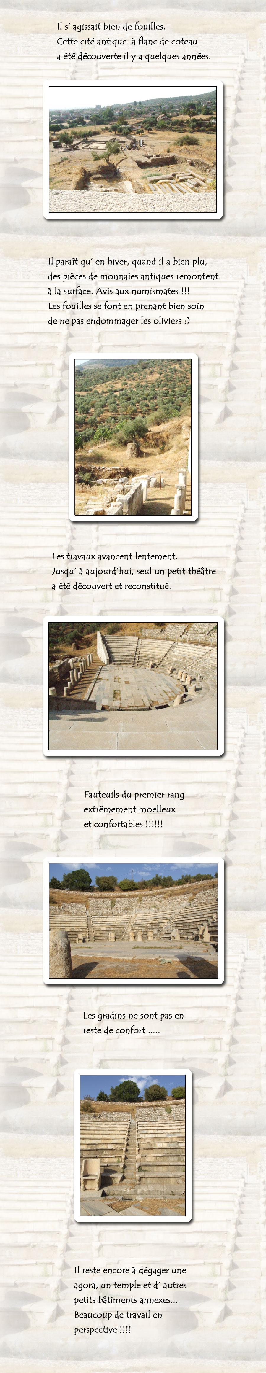 Fouilles archéologiques sur le site de Metropolis.