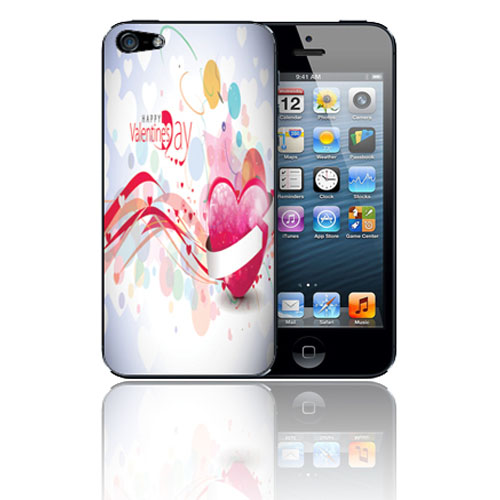 Coque rigide a clipser pour iPhone 5 St Valentin
