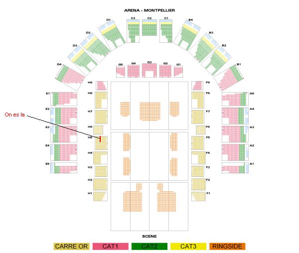 WWE RAW Montpellier 04/11/10 Arena