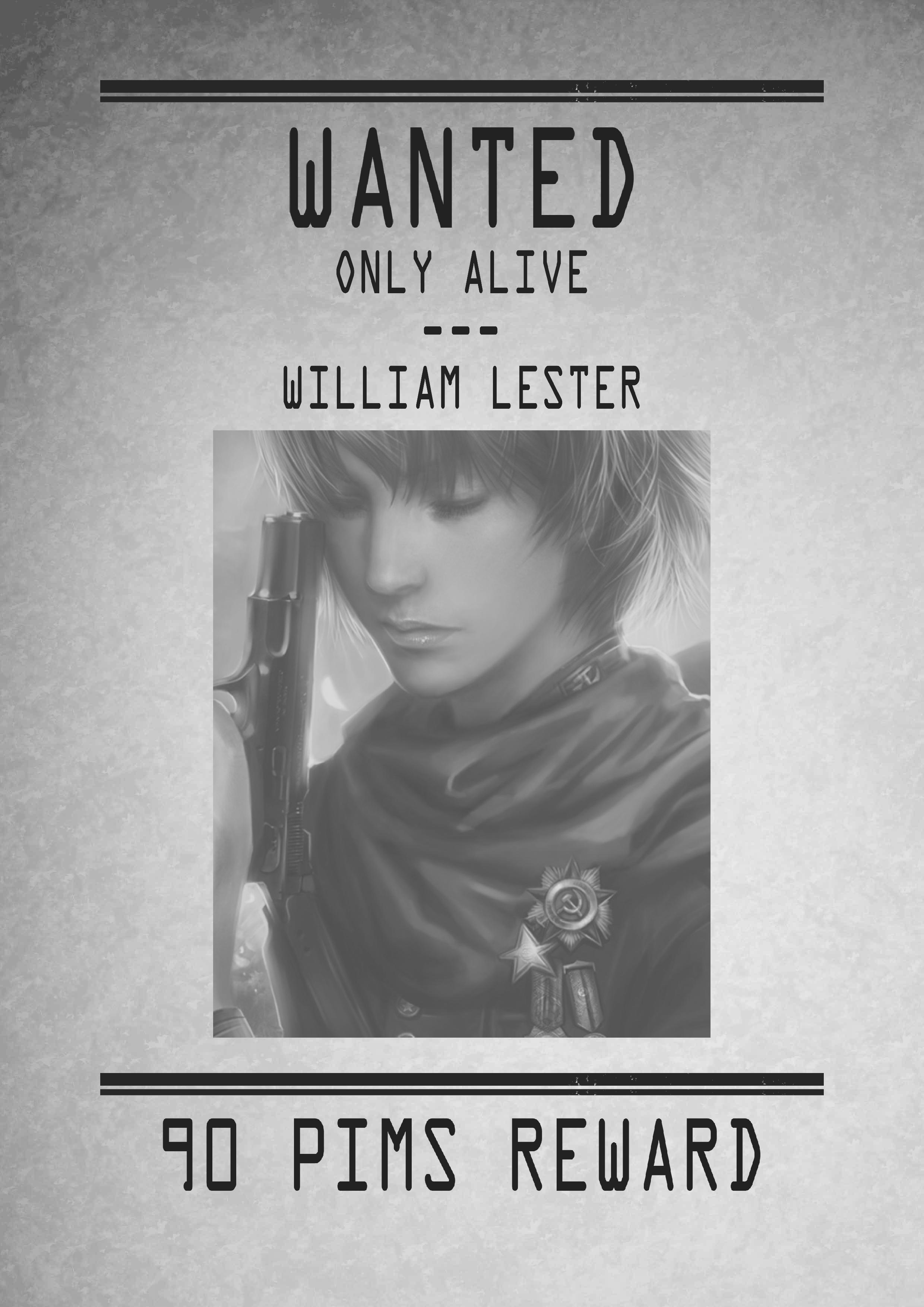 AVIS DE RECHERCHES - Dossiers des Sanctuaris William_Lester_-_Wanted