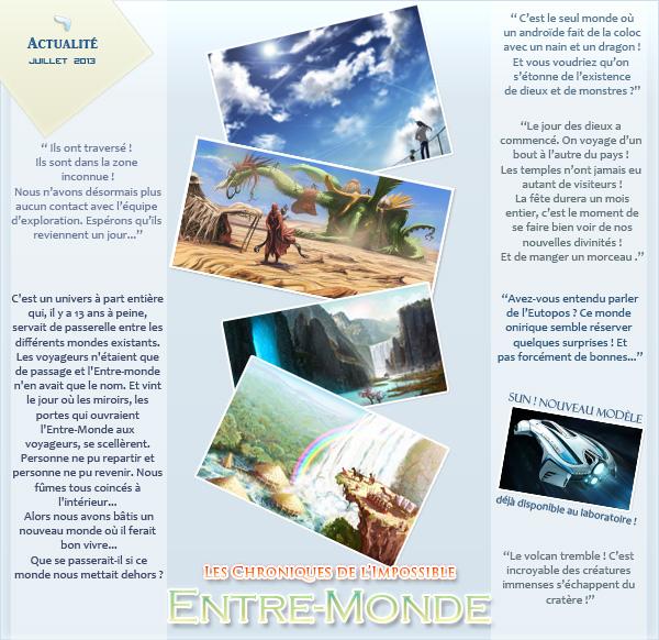 Des nouvelles de l'Entre Monde Newsletter_juillet_2013