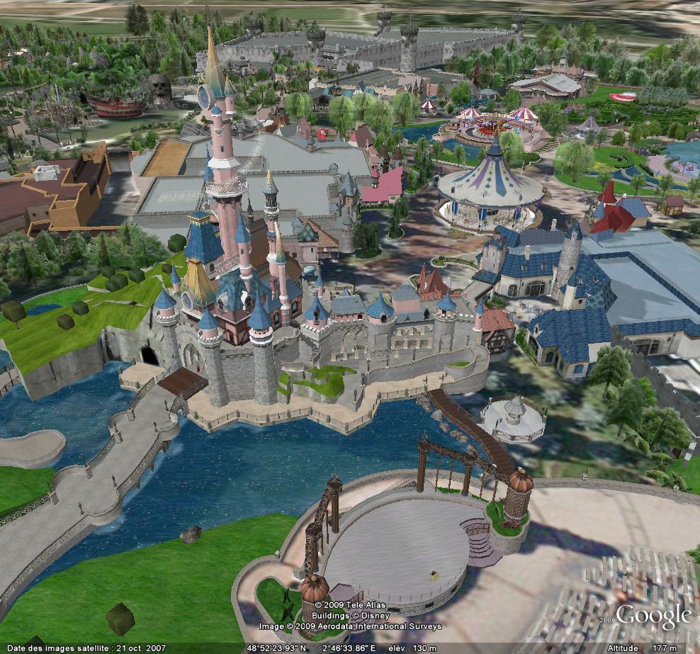 Fraispertuis city sur google earth Disney