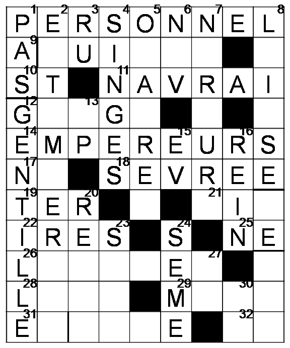 Mots croisés - Grille du 22 avril 2009 Image5