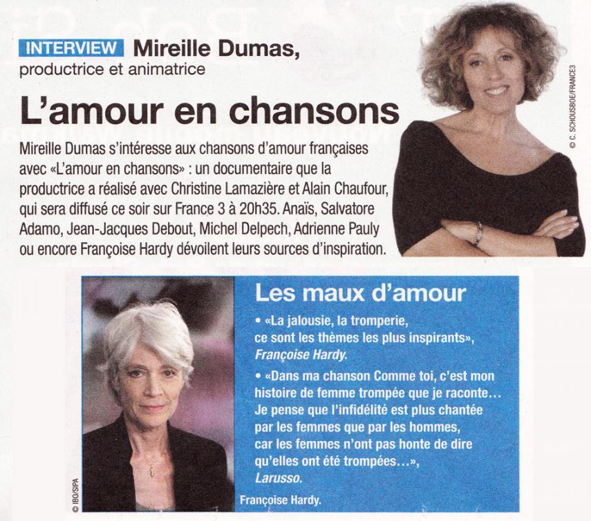 L'amour en chansons - France 3 - 22 juin 2009 Lamourenchansons