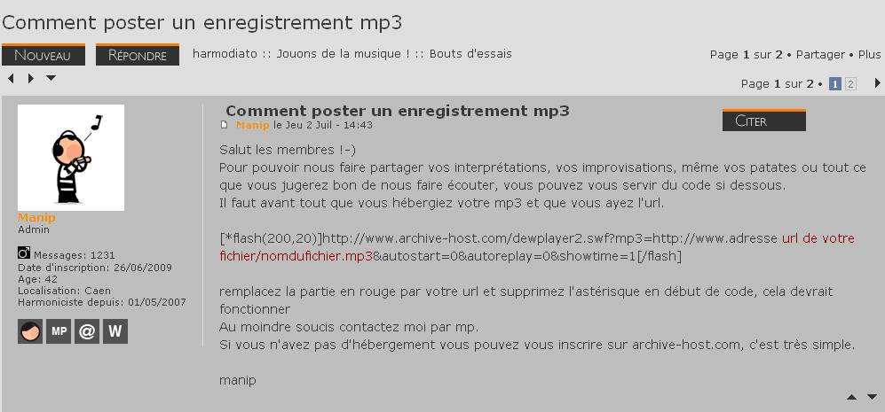 Comment poster un enregistrement mp3 Capture05