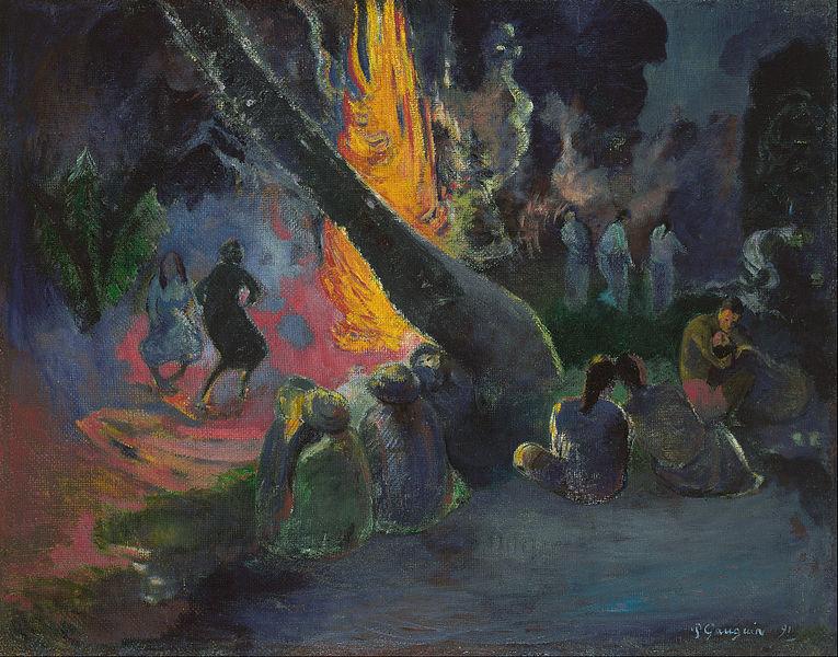 Z'ai braillé toute la journée et hier aussi... - Page 21 Paul_Gauguin-Upa_Upa_1891danse_du_feu